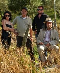 Da sinistra: la produttrice cinematografica Stefania Capobianco, lo scenografo Vito Panzella, il regista Francesco Gagliardi e l'attore Franco Nero.